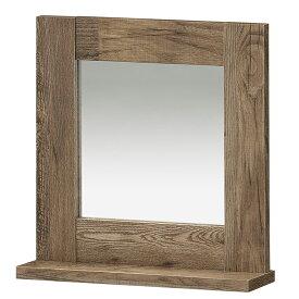 送料無料 ミラー付き壁掛けラック ウォールラック 壁面収納 壁掛け ビエンテージ ウォールシェルフ 鏡 かがみ 古材風 ヴィンテージ 収納棚 リビング収納 木製 かっこいい 北欧 インダストリアル 男前インテリア 西海岸 1人暮らし シンプル おしゃれ
