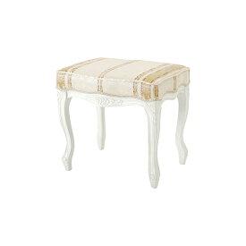 送料無料 スツール 腰掛け ドレッサーチェアー 猫脚 ネコ脚 玄関 リビング キッチン チェア 椅子 いす フィオーレ アンティーク エレガント 高級感 かわいい ホワイト SA-C-1470-WH4