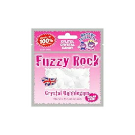 (定形外郵便)発送方法選択の際はメール便をご選択ください Fuzzy Rock(ファジーロック) キシリトールキャンディー バブルガム味(40g)