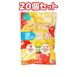 (20個セット)サラヤ 匠の塩飴マンゴー味 100g*20個 まとめ買い 3980円以上で送料無料 離島は除く