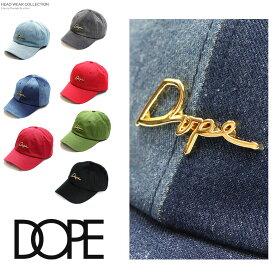 814cfeec1c7 DOPE ドープ キャップ 帽子 6パネル ローキャップ ロウ シンプル 刺繍 定番 ゴールド プレート 黒 ブラック