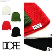 DOPEドープキャップ帽子ニットキャップニット帽ニットキャップシンプルロゴ定番黒ブラック白赤レッドヒップホップメンズレディースB系ストリート系ファッション服おしゃれかっこいい人気ブランドWOVENLABELBEANIEdopecouture