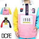 【40%OFF】DOPE ドープ ジャケット ナイロン マウンテンパーカー アノラック アノラックパーカー メンズ ブラック 黒 レッド ピンク B系 ストリート系 大きいサイズ XXL 2XL 3L ファッション 服 おしゃれ かっこいい 人気 ブランド DOPE SPORT ANORAK dope couture