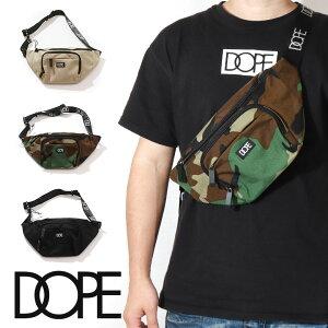 【10%OFF】 DOPE ドープ ボックス ロゴ ボディ バッグ ショルダー ポーチ ショルダーバッグ ボディバッグ カバン ウエストポーチ ロゴ 定番 ブラック カモ 迷彩 ヒップホップ メンズ レディース