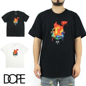 【10%OFF】 DOPE ドープ Adios Proust S/S Tee Tee 半袖 Tシャツ 半袖Tシャツ ティーシャツ ファイヤー ブラック ホワイト グラフィック Tシャツ メンズ B系 ストリート系 大きいサイズ XXL 2XL 3L ファッシ