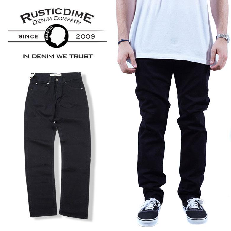 RUSTIC DIME ラスティックダイム スキニーパンツ デニム チノパン SLIM FIT 細身 スリム ブラック 黒 B系 ストリート系 ファッション 服 おしゃれ かっこいい 人気 ブランド 海外ブランド