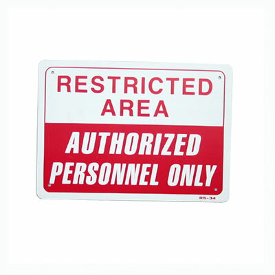 RESTRICTED AREA / RED