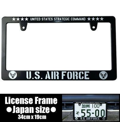 ライセンスフレーム / AIR FORCE / 日本サイズ【カーアクセサリー】