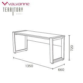 【除】【送料無料】135cm幅デスク DD-2350-DWテリトリーバルバーニ valvanne