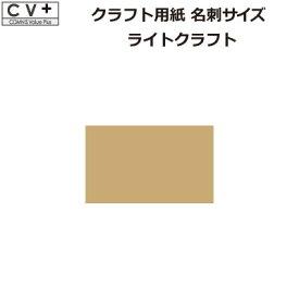クラフト用紙 名刺サイズ ライトクラフト 100枚 MKP005