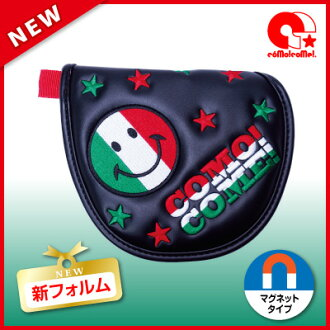 """Putter cover mallet head cover """"ラブピッ ☆ Italian tricot"""" コモコーメ"""