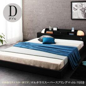 ベッド ダブル ダブルベッド ダブルベッド ローベッド フランスベッドマットレス付き ベッド ダイナー スーパースプリング 040101267