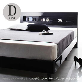 ダブルベッド ベッド ダブル ダブルベッド フランスベッドマットレス付き ベッド ディ・グレース スーパースプリング 040104994