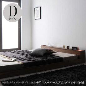 ローベッド ダブルベッド ベッド フランスベッドマットレス付き ダブルベッド ディニタス スーパースプリング 040109517
