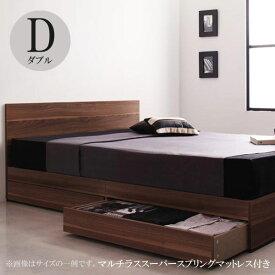 収納付きベッド 収納付きベッド ダブルベッド フランスベッドマットレス付き ベッド プレザート スーパースプリング 040111351
