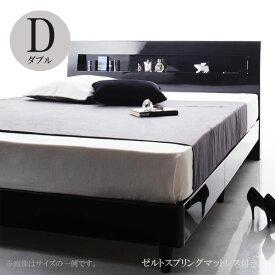 ダブルベッド ベッド ダブル ダブルベッド フランスベッドマットレス付き ベッド ディ・グレース ゼルトスプリングマットレス 040112109