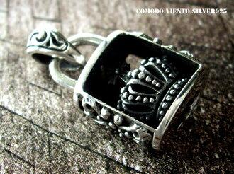 面对白系列皇冠挂锁 = 挂锁吊坠 S & 银吊坠项链挂锁钥匙挂锁锁哥特系列 silver95 银 925 豪华银男士配饰
