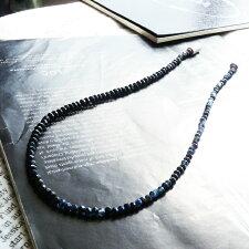 47cmブラックスピネルサファイアルビーマグネット式チョーカーネックレス天然石パワーストーンチェーンペンダントチェーンメンズレディースアクセサリー7月9月誕生石