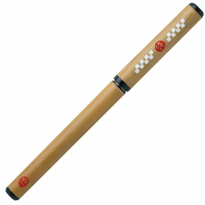 あかしや AK3200MK-33天然竹筆ペン カスタム だるま 桐箱入り【筆ペン 高級 ギフト 職人 カートリッジ】