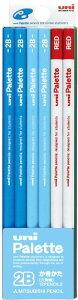 三菱鉛筆 かきかた鉛筆 ユニパレット 2B パステルブルー 1ダース 赤鉛筆付 K55632B