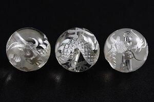 【彫刻ビーズ】水晶 10mm (白彫り) 白龍 (五爪龍) 【パワーストーン 天然石 アクセサリー】
