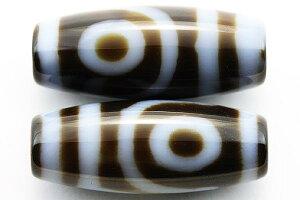 【天珠ビーズ】高級風化天珠2.0cm 二眼 【パワーストーン 天然石 アクセサリー】