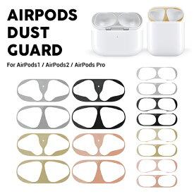 airpods ダストガード AirPods1 / AirPods2 /AirPods Pro シール motomo Airpods Dust Guard エアーポッズ ダストガード 金属粉侵入防止シール 防塵 埃 アクセサリー おしゃれ メタル 金属製 保護 メール便