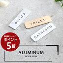 【エントリーでポイント5倍!】ドアプレート Hansmare Aluminum Door Sign トイレ アルミ ドアプレート オフィス ドア…