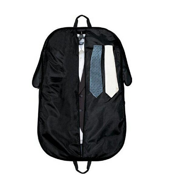スーツや衣装の持ち運びに!ガーメントバッグ 出張冠婚葬祭 撥水加工 ブラック【メール便はできません】