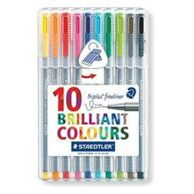 ステッドラー トリプラス ファインライナー 細書きペン 10色セット(334 SB10) 取り寄せ商品