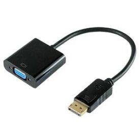 ホーリック DisplayPort→VGA変換アダプタ 10cm DisplayPortオス to VGAメス(DPVGF01-182BK) メーカー在庫品
