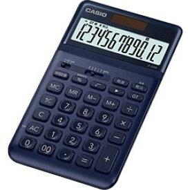 カシオ計算機(CASIO) カシオ 電卓 12桁 (ネイビー)CASIO スタイリッシュ電卓 ジャストタイ(JFS200NYN) メーカー在庫品