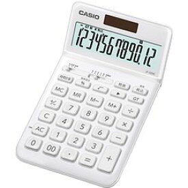 カシオ計算機(CASIO) カシオ 電卓 12桁 (ホワイト)CASIO スタイリッシュ電卓 ジャストタイ(JFS200WEN) メーカー在庫品