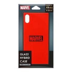 PGA iPhone XS Max用 ガラスハイブリッドケース ロゴ/レッド(PG-DCS632RD) 取り寄せ商品
