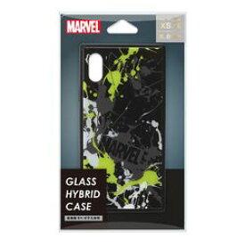 PGA iPhone XS/X用 ガラスハイブリッドケース スプラッシュロゴ/ブラック(PG-DCS614BK) 取り寄せ商品