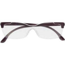 キングジム AM41ムラ メガネ型拡大鏡(花柄) 紫 取り寄せ商品