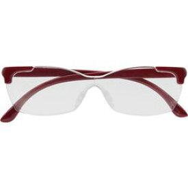 キングジム AM41アカ メガネ型拡大鏡(花柄) 赤 取り寄せ商品