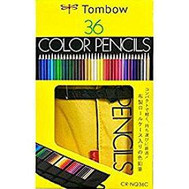 トンボ鉛筆 ロールケース入り 色鉛筆 36色NQ CR-NQ36C 取り寄せ商品