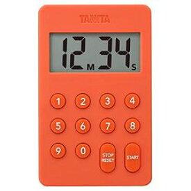 タニタ デジタルタイマー 100分計 オレンジ(TD-415-OR) 取り寄せ商品