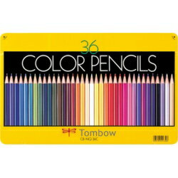トンボ鉛筆 缶入色鉛筆 36色 NQ CB-NQ36C 目安在庫=○[メール便対象商品]