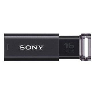 支持索尼USB3.0的敲門放映裝置式USB存儲器16GB黑色USM16GU B大致目標庫存=△[對象商品]