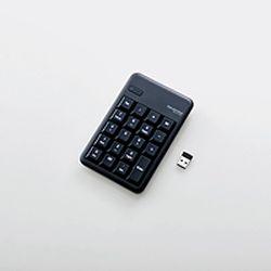 エレコム ワイヤレステンキーボード/Mサイズ/メンブレン/高耐久/ブラック(TK-TDM017BK) メーカー在庫品