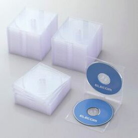 【P5E】エレコム CD/DVDスリムプラケース/2枚収納/50パック/クリア CCD-JSCSW50CR(CCD-JSCSW50CR) メーカー在庫品