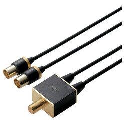 エレコム アンテナ分波器/4K8K対応/ブラック DH-ATS48K05BK メーカー在庫品[メール便対象商品]