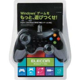 エレコム 12ボタンUSBゲームパッド/Xinput対応/振動・連射機能付/ブラック(JC-U3613MBK) メーカー在庫品