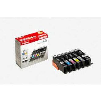 純正的物品Canon佳能BCI-351+350/6MP儲墨池(BK/C/M/Y/GY)(6552B004)大致目標庫存=○