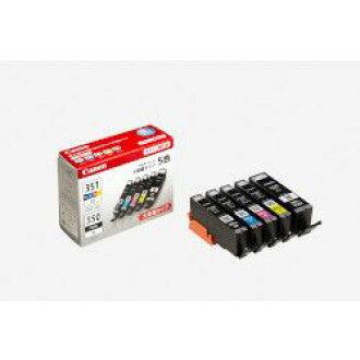 純正的物品Canon佳能BCI-351XL+350XL/5MP儲墨池(BK/C/M/Y)(6552B001)大致目標庫存=○