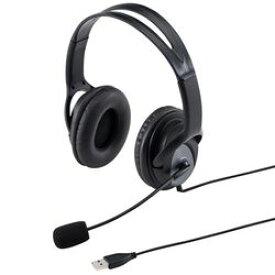 サンワサプライ USBヘッドセット MM-HSUSB17BK メーカー在庫品