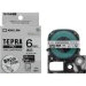 キングジム Pテープマットラベル透明黒文字 SB6T 取り寄せ商品