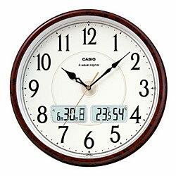 カシオ計算機 電波掛け時計アナログ 茶木目調 ITM-200J-5BJF メーカー在庫品